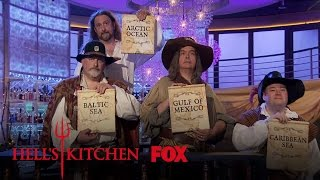 Singing Pirates Reveal The Fish Heidi And Johnny Will Be Cooking | Season 16 Ep. 5 | HELL'S KITCHEN