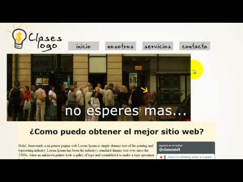 Como crear una pagina web completa en HTML - 7