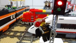 Lego train rail crossing fully automated by Arduino