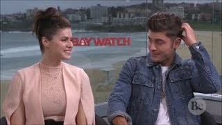 Zac Efron Can't Stop Blushing Around Alexandra Daddario (Flirty Interview)