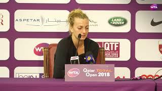 2018 Qatar Open press conference: Petra Kvitova 'I knew that I needed to play aggressive'