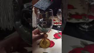 Graduation cups I made🙌🏾💯❤️