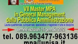 MPA 2012. Master in General Management della Pubblica Amministrazione