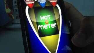 Playing love test and hot o meter on my Iphone