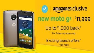 Buy Moto G5 at Rs 10999 from Amazon + Free 16 GB Memory Card + Free 28 GB Data