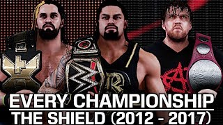 WWE 2K18: Every Title The Shield Have Won In WWE (2012 - 2017) (With Roman Reigns' IC Title Victory)
