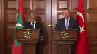 Dışişleri Bakanı Sayın Mevlüt Çavuşoğlu'nun Maldivler Dışişleri Bakanı İle Ortak Basın Toplantısı