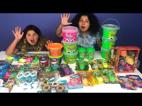 MIXING ALL OUR STORE BOUGHT SLIMES NEW SLIMES PART 1 GIANT SLIME SMOOTHIE