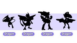 Mew & Mewtwo Evolutions as Dragons | Pokemon Gen 8 Fanart #16