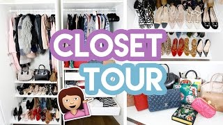 CLOSET/WARDROBE TOUR 2017!!! | Amelia Liana