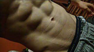 19 year old Six pack Abs flexing | Vlog | Summer Cutting Ep. 6