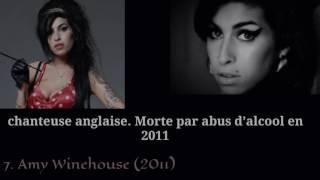 10 Artistes MORTS à 27 ans !