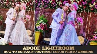 adobe lightroom simple correction colors wedding photo editing