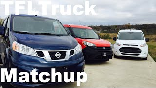 2015 Ram ProMaster City Vs Ford Transit Connect Vs Nissan NV200 Matchup Van Review