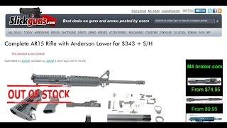 Full AR 15 for $343 USD plus SH