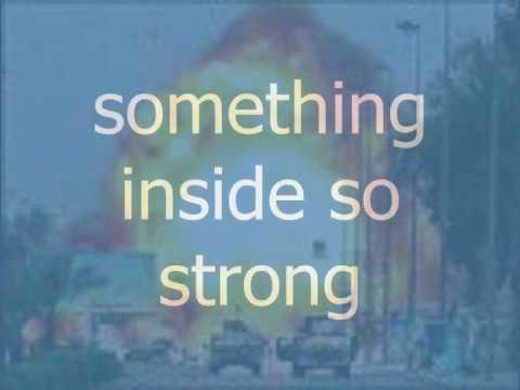 Something Inside So Strong With Lyrics
