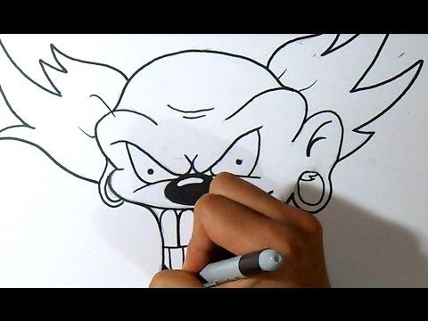 como desenhar um palhaço hardcore Grafite Wizard art by Wörld