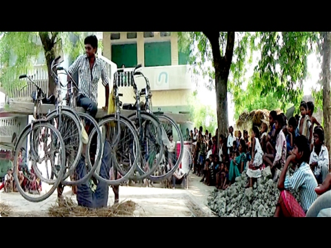 Amazing street Talent doing balance act and amazing stunt in village in India