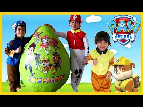 Xxx Mp4 PAW PATROL TOYS Giant Egg Surprise Opening Nickelodeon Paw Patrol Kids Video GIANT EGG Surprise Toys 3gp Sex