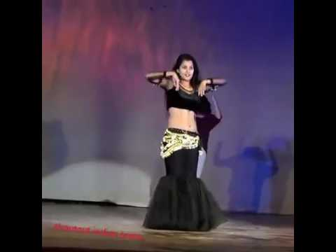 Odisha College Girl Performing Belly Dance