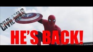 SPIDER-MAN IN CIVIL WAR REACTION VIDEO!