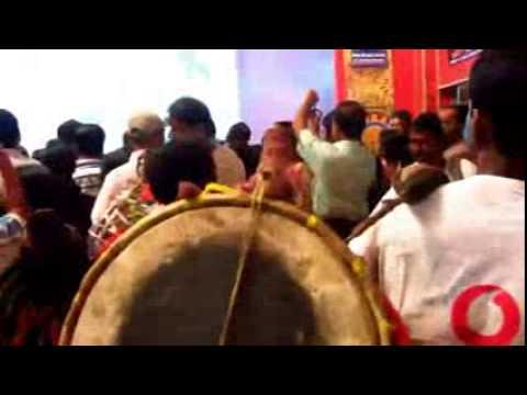 Many Dhaki 2014 durga puja festival mela enjoying scene in tarun sangha club comitee