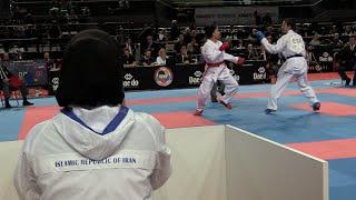 SPAIN vs IRAN. Female Team Kumite Competition. 2014 World Karate Championships