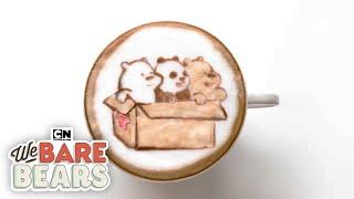 We Bare Bears | Adorable Baby Bear Coffee Art! | Cartoon Network