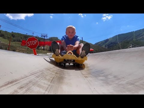 Hoverboard Race Down a Mountain