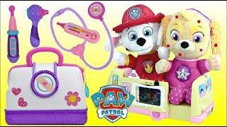 PAW PATROL Pup SKYE Gets Chickenpox and Visits Disney Jr. Doc McStuffins Toy Hospital Ambulance!
