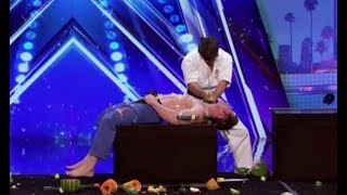 Indian Martial Artists with EXTREME DANGER Sword Act | America's Got Talent 2017