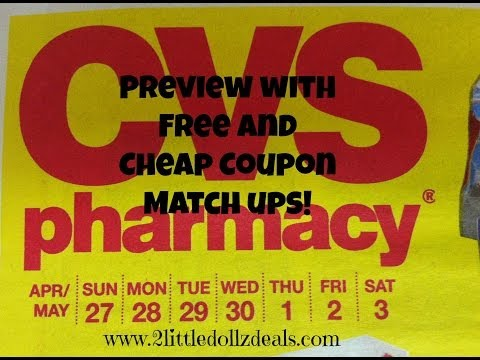 CVS Sales Circular preview Free and Cheap Coupon Match up 4/27 to 5/3/14