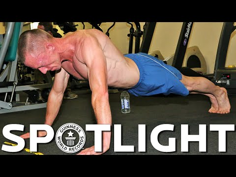 Most push ups in an hour - Spotlight