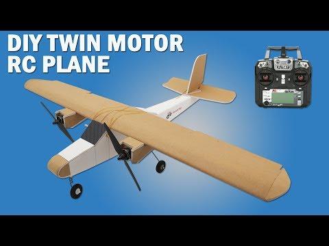 How To Make Twin Motor RC Model Airplane DIY Brushless Motor Model Airplane.
