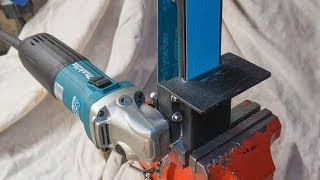 Angle grinder attachment homemade metal grinder belt sander