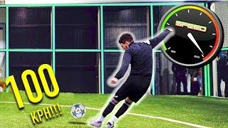 F2 VS FOOTBONAUT | IMPOSSIBLE 100 KPH FOOTBALL CHALLENGE!!
