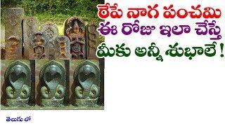 నాగ పంచమి రోజు ఇలా చేస్తే అన్ని శుభాలే! || #Naga panchami || #Naga panchami Puja in telugu