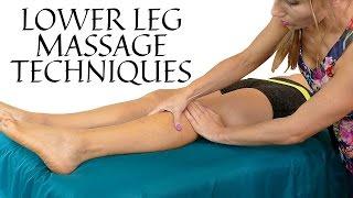 HD Relaxing Leg & Foot Massage Tutorial, Pain Relief in Feet, Lower Legs   Soft Speaking & Music