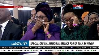 Dr Skweyiya's grandchildren pay tribute to him