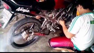 +P +W Tehnik Setting Motor Kawasaki Ninja Drag Race | Modifikasi Motor Ninja