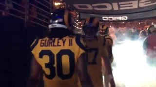 Rams Pumped-Up Tunnel Entrance with Todd Gurley & Tavon Austin | NFL