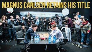 Magnus Carlsen Wins World Chess Championship Match Over Fabiano Caruana