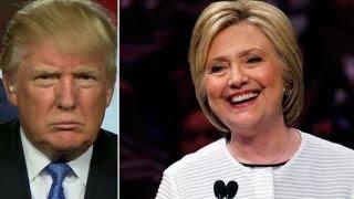 Donald Trump reacts to Hillary Clinton