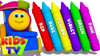 Learn Colors For Kids Babies Toddlers And Children | Crayons Color Song | Nursery Rhymes