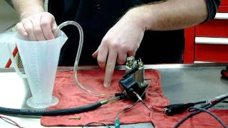 How to test an Electronic Fuel Pump CC output and overhaul procedures