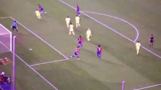 Ronaldinho amazing doublekick  من المدرجات اجمل اهداف رونالدينيو في برشلونه