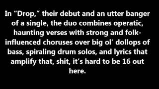 Chloe x Halle, 'Drop' Lyrics On Screen