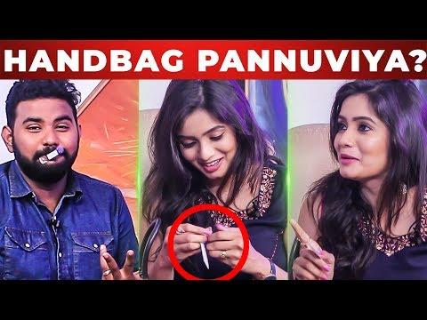 Xxx Mp4 STOP Doing HANDBAG Nadhaswaram Srithika Slams VJ Ashiq What S Inside The HANDBAG 3gp Sex