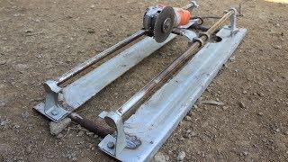 How to Make a Angle GRINDER SLIDER / Homemade Angle Grinder Stand
