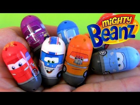 24 Mighty Beanz Cars2 Mater the Greater Sally Snot Rod Lightning McQueen Disney cars toon toys